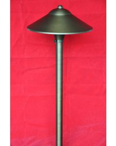 MDL Mushroom Hat 9 Inch Tall Area Path Light in Cast Brass (Antique Bronze Finish)