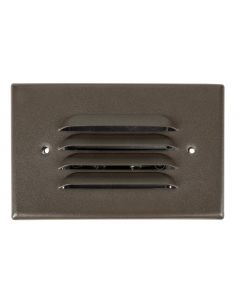 MDL Integrated LED 2.5 Watt Louvered Recessed Step Light in Cast Aluminum (Finished in Bronze)