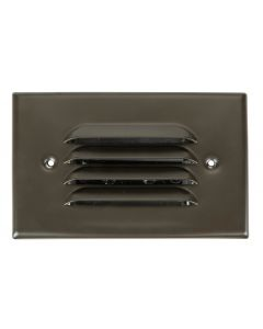 MDL Integrated LED 2.5 Watt Louvered Recessed Step Light in Brass (Finished in Bronze)