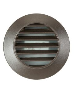MDL Integrated LED 2.5 Watt Surface Mount Louvered Deck/Step Light in Cast Aluminum (Finished in Bronze)